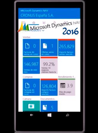 NAV 2016 en cliente tablet o tableta