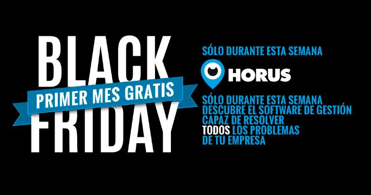 consigue un mes gratis de Horus, nuestro software ERP cloud en el Black Friday