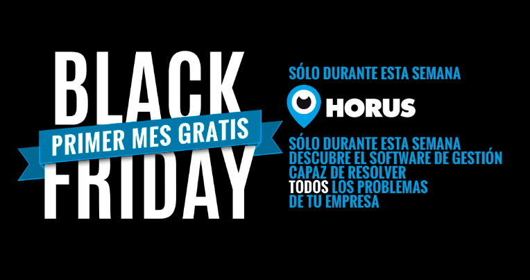 consigue un mes gratis de Horus, nuestro software ERP cloud en el Black Friday