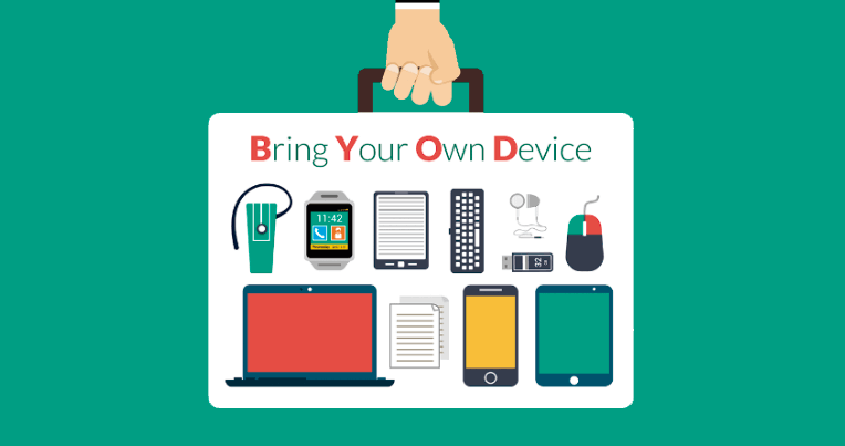bring your own device o trae tu propio dispositivo a la oficina