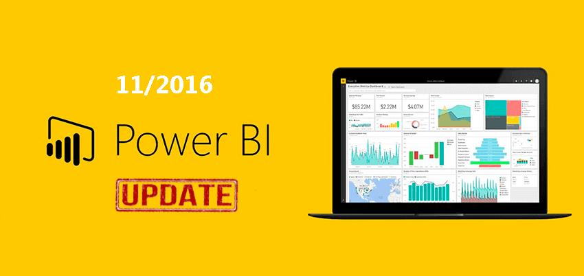 novedades de noviembre de 2016 de Power BI desktop